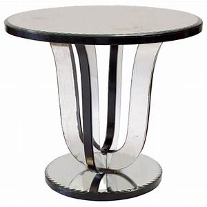 French, Art, Deco, Mirrored, Side, Table, At, 1stdibs