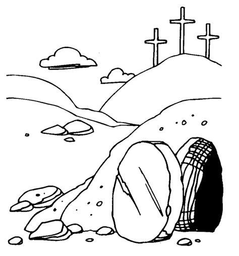 easter cross clipart black and white easter empty clip 54