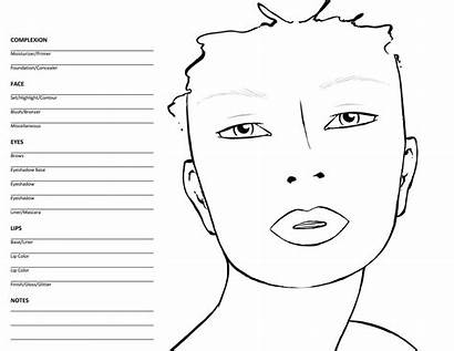 Face Charts Blank Template Chart Templates Female