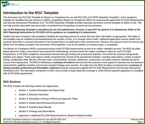 pci dss aoc template template  resume examples