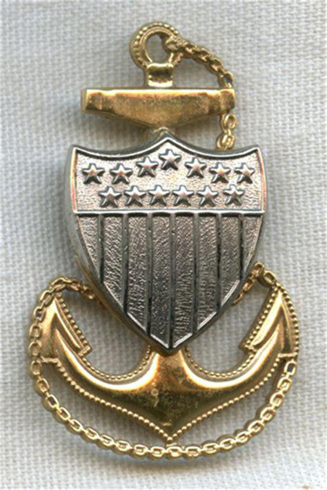 minty   coast guard uscg cpo hat badge  plated