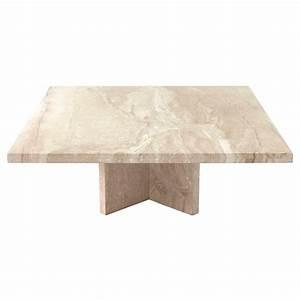 large square travertine coffee table for sale at 1stdibs With large square coffee tables for sale