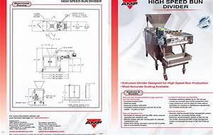Amf High Speed Bun Divider Users Manual