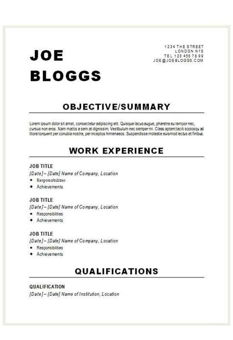 Alternative Resume Templates by Alternative Bold Black Cv R 233 Sum 233 Template