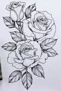 Flower Tattoo Design Sketches