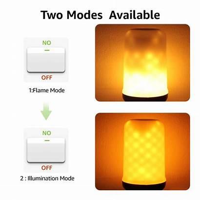 Led Flame Bulbs Safe Fire Effect Flameless