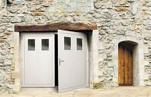 Portes de garage battantes for Porte garage battant alu