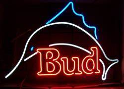 Budweiser Bud Marlin Neon Beer Bar Sign Light
