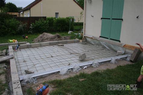 epaisseur dalle de beton pour terrasse