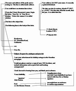 Layout Of A Business Letter Referat