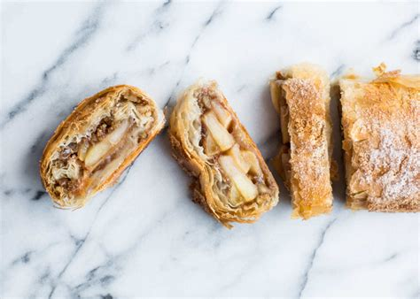 The pastry is then baked. Phyllo Dough Apple Strudel | Recipe | Stemilt