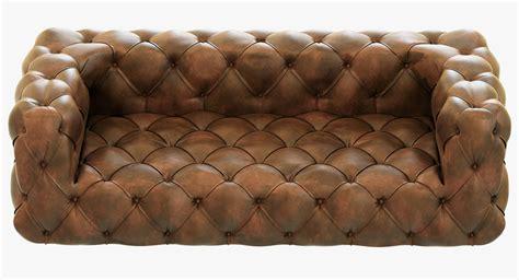 leather tufted sofa restoration hardware soho tufted leather sofa 3d model max 6896