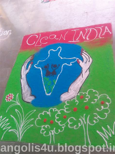 Clean Themes Beautiful Rangoli Designs Clean India Theme Rangoli