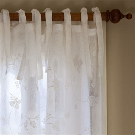 4 styles of white linen curtains