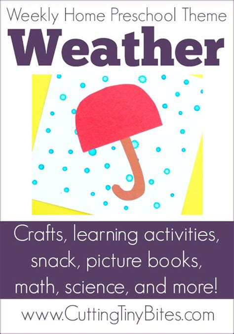 weather theme weekly home preschool what can we do with 794 | Weather Theme Preschool