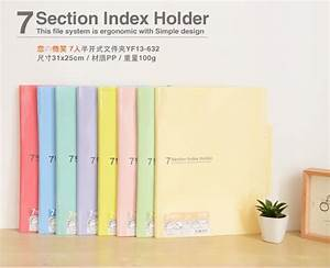 korean stationery cute file folder a4 document bag With cute document folder