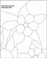 Columbine Flower Coloring Edible Stained Plants Flowers Glass sketch template