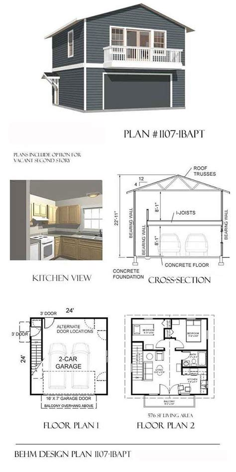 one garage apartment floor plans garage plans two car two garage with apartment and