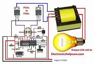 How To Make Inverter 12v Dc To 220v Ac  Making Circuit