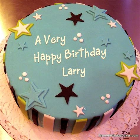 happy birthday larry cakes cards wishes