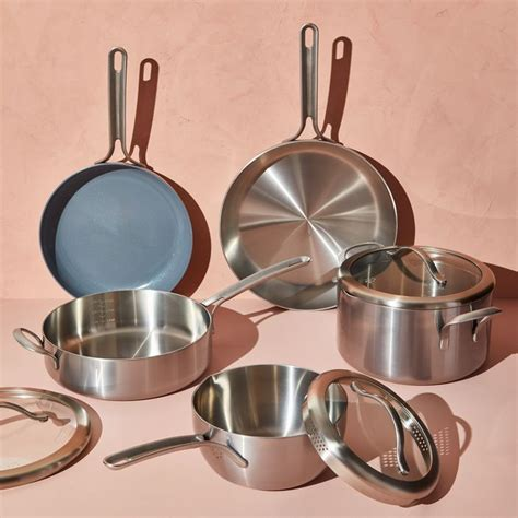 essential cookware set  food nonstick stainless steel cookware set food