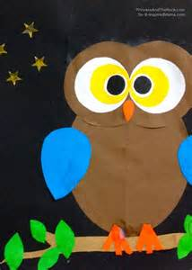 Owl Shape Craft for Kids