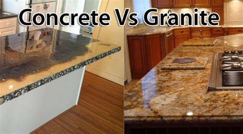 comparing concrete to granite countertops concreteideas