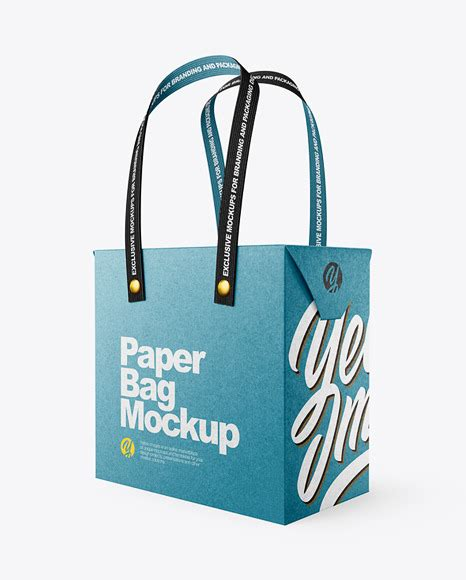 Here you'll find free print templates, flyers, posters, brochures, business cards, photo albums, portfolios, wedding. Kraft Paper Bag with Textile Handles Mockup - Half Side ...