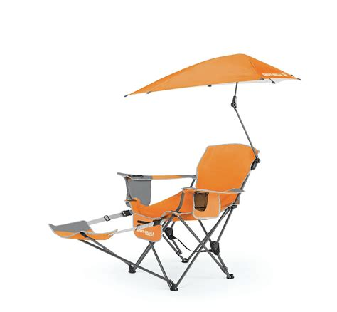 Reclining Folding Chair With Footrest by Sportbrella Portable Cing Chair Folding Recliner Seat