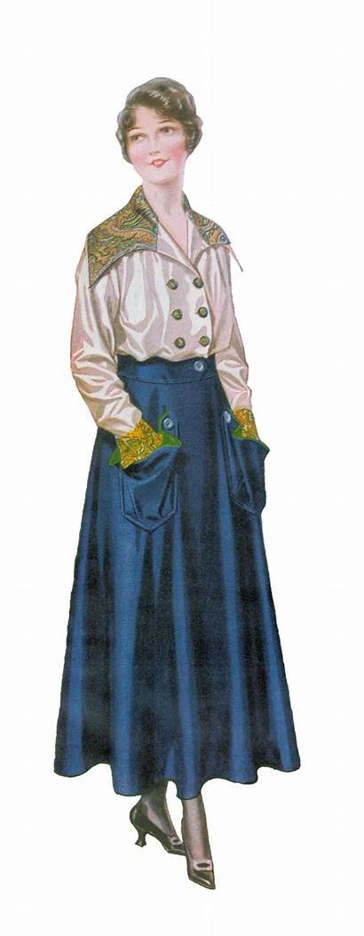 1915 Skirt Blouse Graphic Antique Fashions Skirts