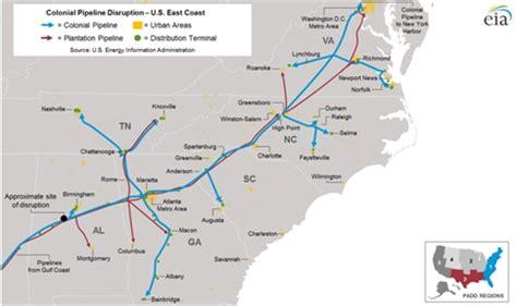 eia colonial pipeline shutdown disrupts gasoline supply