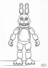 Bonnie At Five Nights Freddy Coloring Pages