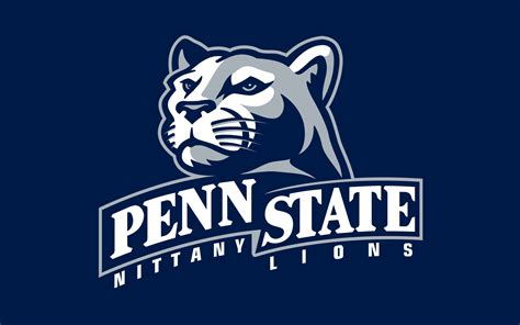 penn state university college football logo  wide