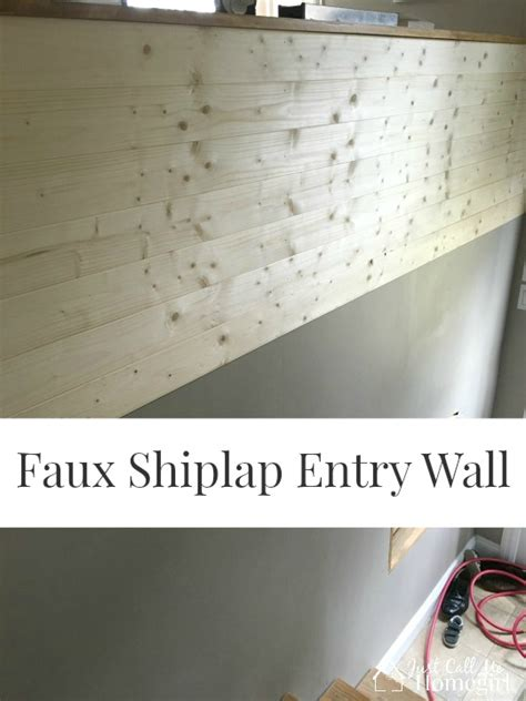 faux shiplap entry  call  homegirl