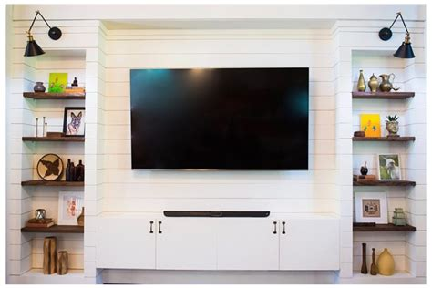 Shiplap Built In Entertainment Center REVEAL!   Daly Digs