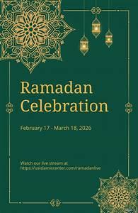 ramadan, poster, template, , free, pdf