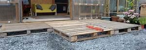 Terrasse Avec Palette : terrasse en palette choix du bois installation entretien ~ Melissatoandfro.com Idées de Décoration