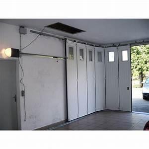 porte de garage sectionnelle laterale a la belle fenetre With porte de garage laterale prix
