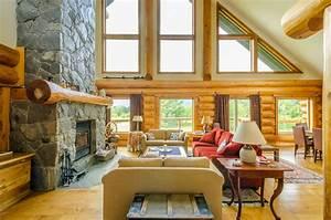 rustic ski lodge lodge interior design khiryco elegant log With rustic cabin interior wall ideas