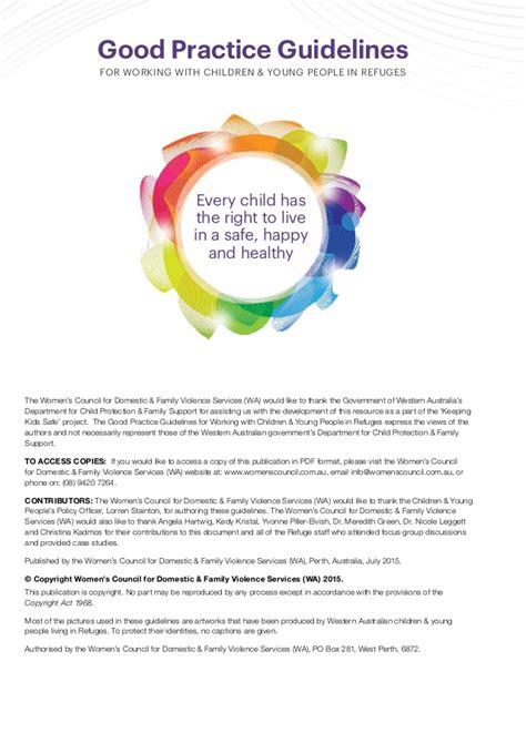 good practice guidelines  working  children