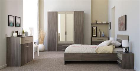 chambre compl鑼e armoire 4 portes 2 tiroirs contemporaine coloris réglisse valeriane armoire 4 portes chambre adulte chambre