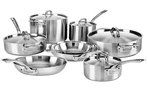 viking cookware set  ply pro stainless steel  piece