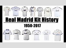 Real Madrid CF Kits Evolution Throughout History 1950