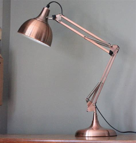 Copper Angled Table Lamp By The Forest & Co