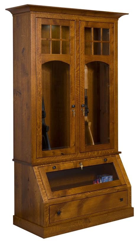 Wooden Gun Cabinets by Tribecca Wood Gun Cabinet From Dutchcrafters Amish Furniture