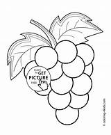 Coloring Grapes Pages Fruits Printable Berries 4kids sketch template