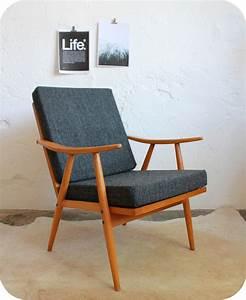 Fauteuil Vintage Scandinave : e389 fauteuil scandinave vintage thonet f atelier du ~ Dode.kayakingforconservation.com Idées de Décoration