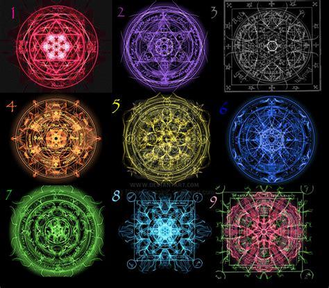 the first nine magic circles by silentassassink on deviantart