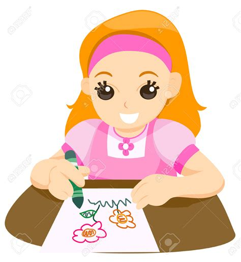 child drawing clipart clipground