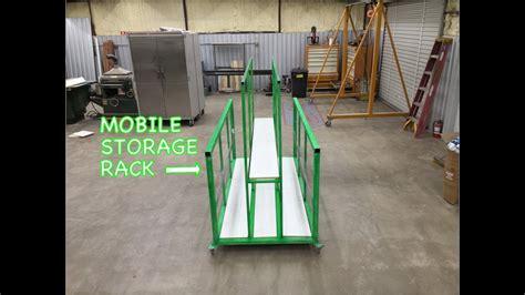 sheetmetal storage rack  wheels cnc plasma table youtube